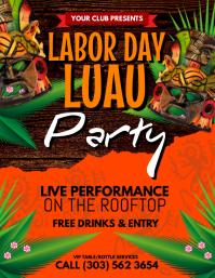 Labor Day Luau Flyer