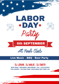 Labor Day Party Flyer A4 template