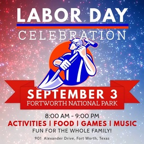 Labor Day Party Invitation Video Template