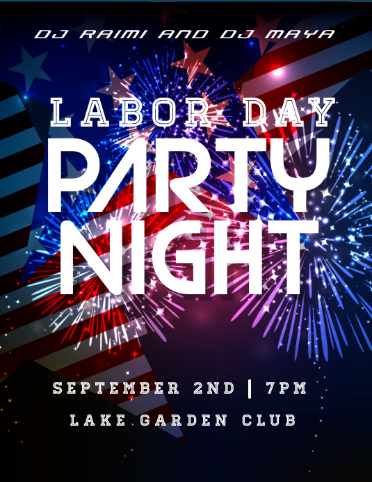labor day party night