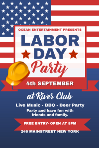 Labor Day Party Poster