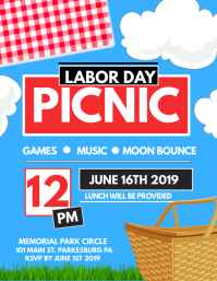 Labor Day PICNIC Flyer (US-Letter) template