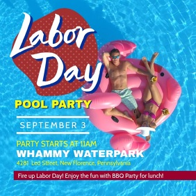 Labor Day Pool Party Video Template