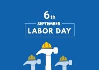 Labor day Postcard template