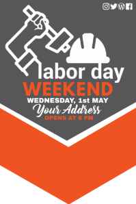 Labor day poster, Event poster, Party poster