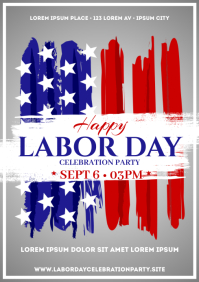 LABOR DAY POSTER A4 template