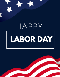 labor day poster Volante (Carta US) template