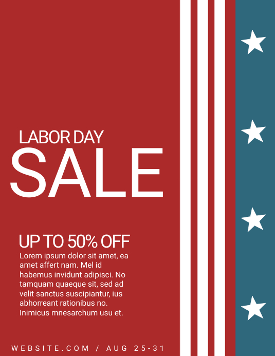 Labor day Folder (US Letter) template