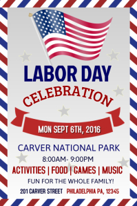 Labour Day Poster Template · LABOR DAY