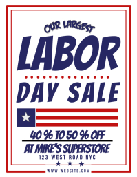 LABOR DAY SALE AD /FLYER /POSTER