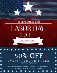 Labor Day Sale Event Flyer Template
