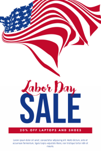 Labor Day Sale Flyer Template