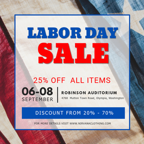 Labor Day Sale Instagram Post Template