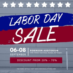 Labor Day Sale Offer Retail Video Template
