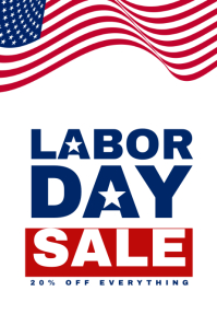 Attractive Labor Day Sale Flyer Template