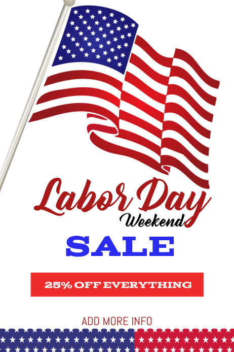 Labor day sale template flyer