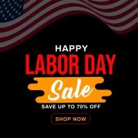 Labor Day Sale Template Social Media post