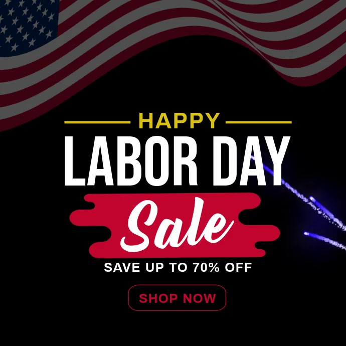 Labor Day Sale Template Social Media post Instagram-bericht