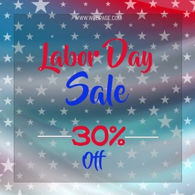 Labor day sale video flyer template