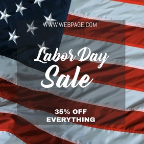 Labor day sale video flyer template Instagram Plasing
