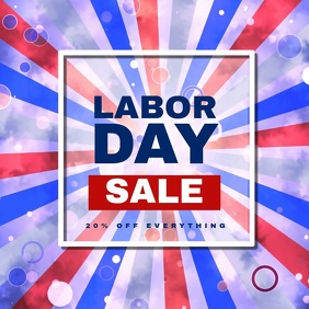 Labor Day Sale Video Template Carré (1:1)
