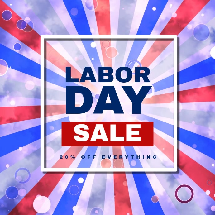 Labor Day Sale Video Template Vierkant (1:1)