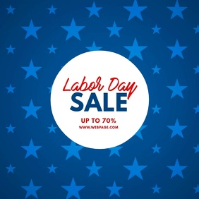 Labor Day Sale Video Template 方形(1:1)