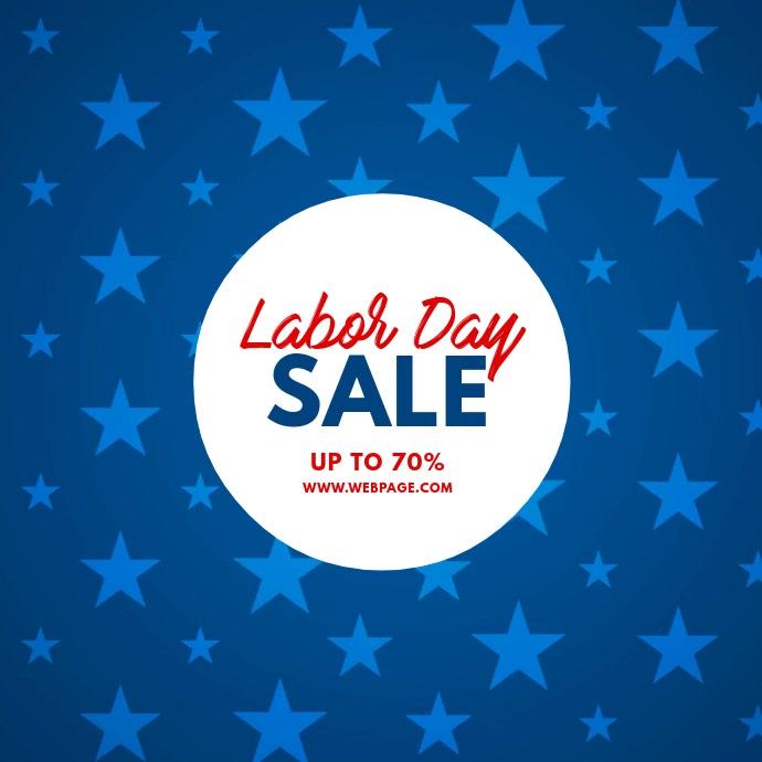 Labor Day Sale Video Template Cuadrado (1:1)