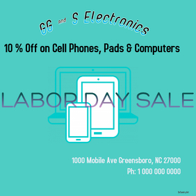 Labor Day sales Electronics for retail stires
