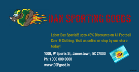 Labor Day Sales foot ball FB ad