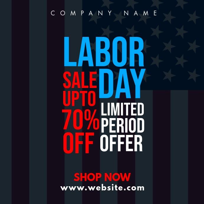 Labor Day Sales Instagram Post Vorlage Postermywall