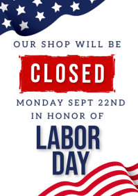 LABOR DAY SHOP CLOSED NOTICE TEMPLATE A4