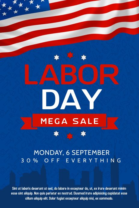 labor day usa poster Plakat template