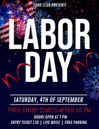 Labor Day Video, Worker's Day Flyer (US Letter) template