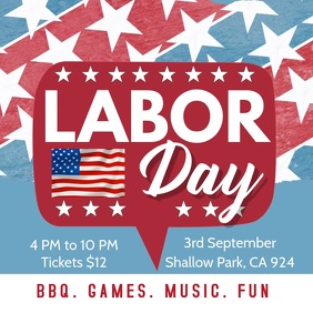 Labor Day Video Invitation