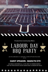 Labour Day Barbecue Party Display Video Poster template