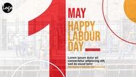 Labour day blog header template