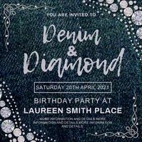 Denim and diamonds,event,wedding template