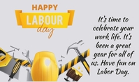 Labour Day Tag template