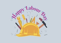 labour day Postal template