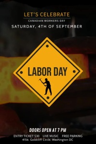 Labour Day Digital Display Video Poster template