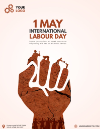 Labour Day flyer Volantino (US Letter) template