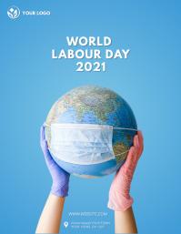 Labour Day flyer Løbeseddel (US Letter) template