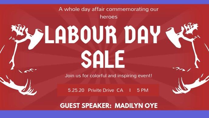Labour Day Sale Digital Display Video