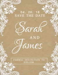 Wedding invitation templates postermywall lacey save the date wedding card stopboris Choice Image