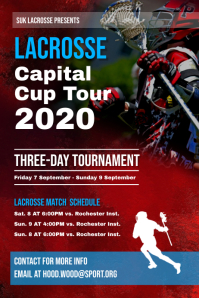 Lacrosse Capital Cup Poster Template
