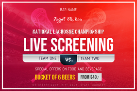 Lacrosse Championship Live Screening Poster Template