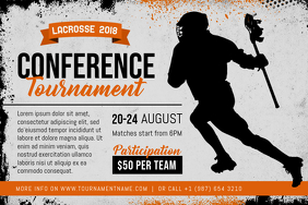 Lacrosse Conference Tournament Poster Template