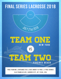 Lacrosse Event Poster Template