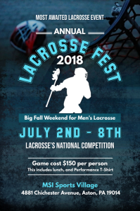 Lacrosse Fest Poster Template